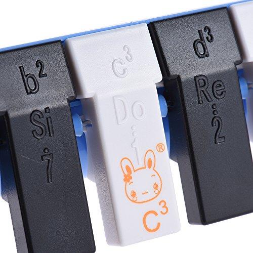 Bedler Qimei QM13A-1 13 Schlüssel-Tastatur Mundharmonika Melodica Pianica Musikerziehung Instrument für Anfänger Kinder Kind-Geschenk-Blau