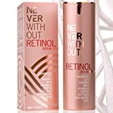 RETINOL SÉRUM creme anti-rides avec acide hyaluronique, peptides raffermissants, collagène et vita mines A / B5 / E. Sérum visage revitalisant améliore les pores et les taches brunes de NeverWithout®
