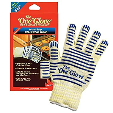 Ove' Glove, Heat Resistant, Hot Surface Handler Oven Mitt/Grilling Glove, Perfect For Kitchen/Grilling, 540 Degree Resistance, As Seen On TV Household Gift, Made in USA