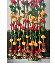 Pom poms beads and golden hangings