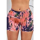 ArcherWlh Leggings Sexy,Cruz-Frontera Nuevo Yoga Europeo Shorts Femenino Amazon Imprimir Alto Elástico Transpirable Fitness Pantalones-Rosa de Carne_Metro