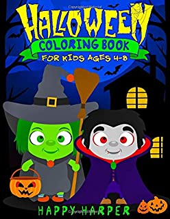Halloween Coloring Book for Kids Ages 4-8: A Fun Halloween Coloring Gift Book for Boys and Girls