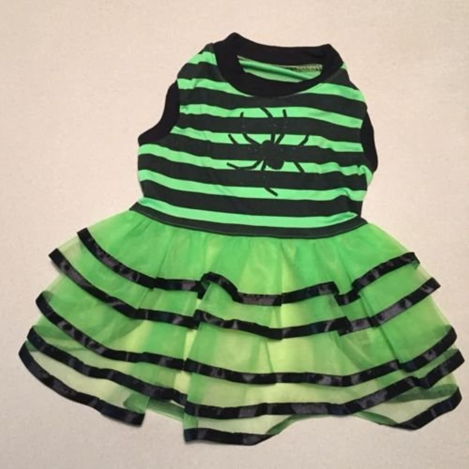 Top Paw Dog Halloween Costume Green Dress Size Small