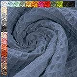 Waffelpique Stoff Lisa, STANDARD 100 by OEKO-TEX, jeansblau