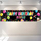 Colorful DIY Birthday Banner Set Crafting Happy Birthday Poster Decoration by Alphabet Stickers Party Decorations Kit Bday Party Supplies