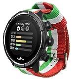 Estuyoya - Pulsera de Nailon Compatible con Suunto 9 / Traverse/Diesel Smartwatch DZT2009 / Fossil Q...