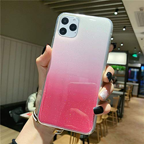 KKAAVV Glitter Transparant Telefoonhoesje Voor iPhone 11 Pro Max X XR Xs Max Bling Poeder Zacht Silicon Cover Voor iPhone 6 6s 7 8 Plus, For 6 Plus 6s Plus, Roze 2