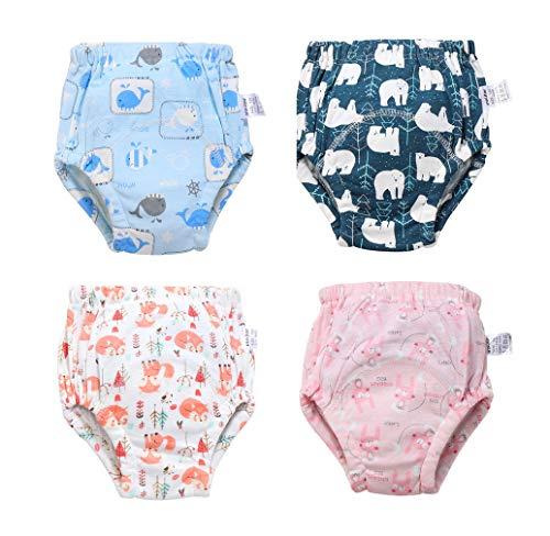 Windeln, waschbar, für Baby, Mädchen, Jungen, 4 Stück Gr. 2-3 Jahre, Stil A