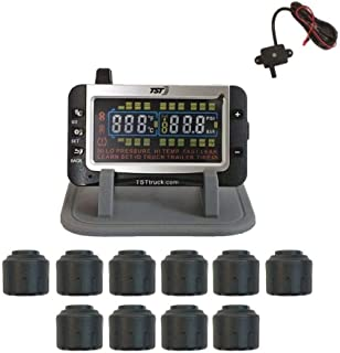 Truck Systems Technology TST 507 Tire Pressure Monitor w/10 Cap Sensors with Color Display