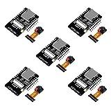 AiTrip 5 Pack ESP32-CAM WiFi + Bluetooth Module Development Board with OV2640 Camera Module