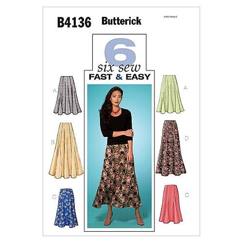 BUTTERICK PATTERNS B4136 Misses'/Misses' Petite Skirt, Size 14-16-18