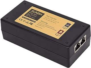 SUNBA High Power Gigabit 65W Single Port Long Distance Transmission 802at/af Compliant PoE+ Injector for IP Cameras