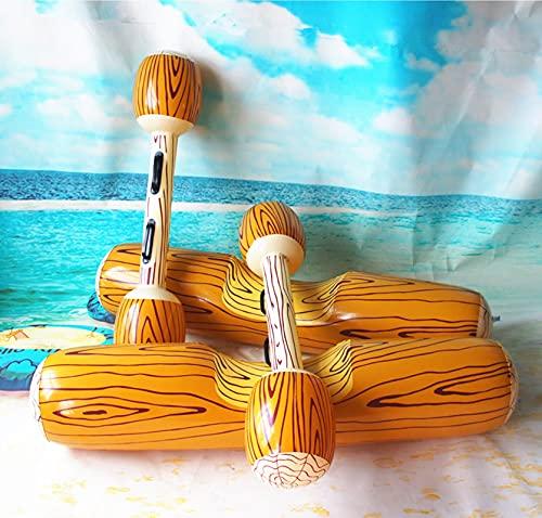 Tyfiner Hamaca Flotante, Colchoneta Piscina, Anillo de Natación de Parachoques de Agua Inflable de PVC Colchón de Aire Inflable Verano Natación Deportes Acuáticos Juguetes de Playa