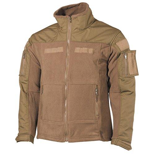 MFH Uomo US Combat Fleece Giacca Coyote Taglia L