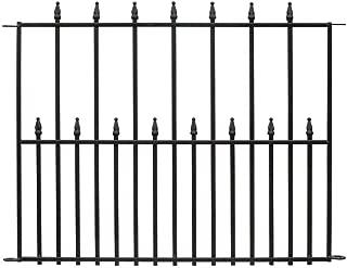 Hampton Bay Empire 30 in. x 36 in. Black Steel 3-Rail Fence Panel
