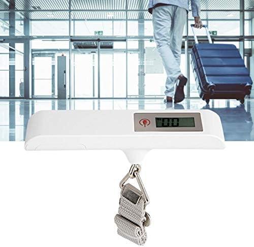 Elektronische weegschaalhaak met tarraaftrek vergrendeling nulstellingsfunctie LCDhangweegschaal Zeer nauwkeurige sensoren voor thuisreisbagage