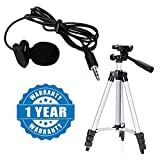 Drumstone Microphone with Mini Hands-free Clip on Lapel Mic for Camera Recorders Compatible