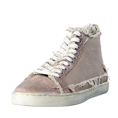 Dolce & Gabbana Women's Canvas Leather Fashion Sneakers Shoes US 8.5 IT 38.5 Dolce Sz 5; Beige