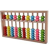 Lucky Will Niños Maderas chino ábaco Abacus soroban Tool Herramienta de cálculo Rastrillo Marco de regla de cálculo