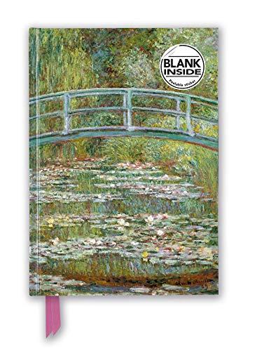 Premium Notizbuch Blank DIN A5: Claude Monet, Die japanische Brücke: Unser hochwertiges Blankbook mit festem, künstlerisch geprägtem Einband (Premium Notizbuch DIN A 5 mit Magnetverschluss)