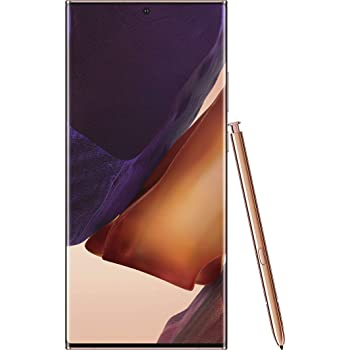 "Samsung Galaxy Note 20 Ultra 256GB N985F/DS 8GB RAM S-Pen 6.9"" Triple Camera GSM LTE Factory Unlocked Smartphone (International Version) (Mystic Bronze)"