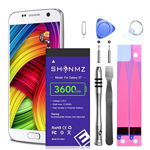 Galaxy S7 Battery,SHENMZ 3600mAh Li-Polymer Internal Battery, EB-BG930ABE Replacement Battery for Samsung Galaxy S7 G930 G930V G930A G930T G930P with Complete Replacement Kits [18 Months Warranty]