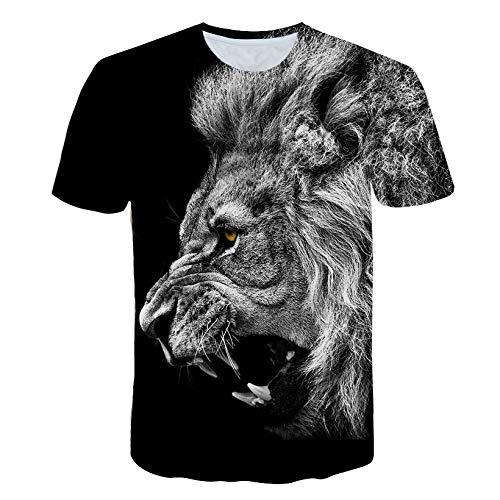 RKWEI T-shirt à manches courtes pour homme Motif tigre 3D XXXXL multicolore
