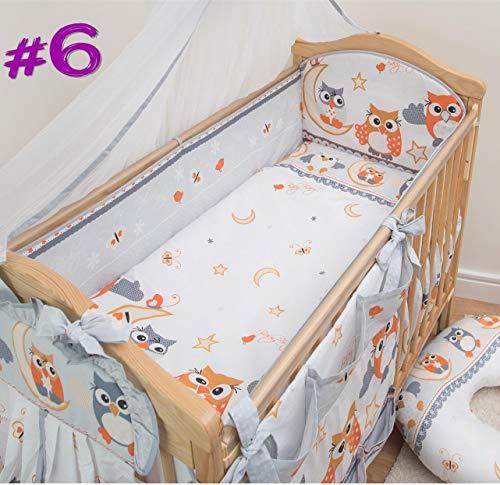 Luxe BABY ensemble de literie enfant pare-chocs couette oreiller Hiboux Gris pour s/'adapter à un petit 120X60