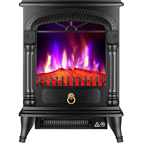 YXCA Heater Kamin Heizung Mit Flammeneffekt Startseite Vertikal Elektro-Kamin Three-Color Simuliert Flamme Heizung,Schwarz