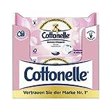 Cottonelle Papel higiénico húmedo, cuidado sensible, sin perfume, biodegradable, reutilizable, 12...