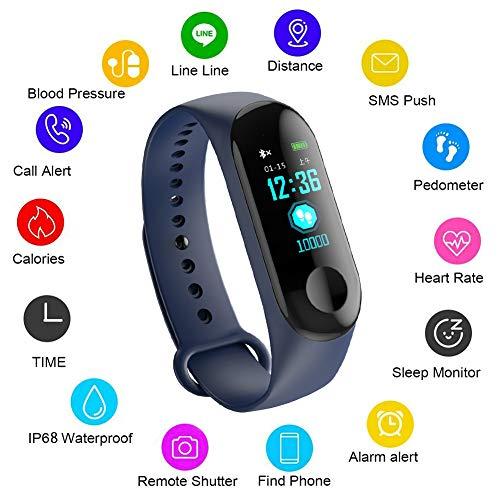 Fitness tracker,LIGE Impermeabile Braccialetto intelligente Con Cardiofrequenzimetro Monitoraggio del sonno,Activity Tracker Uomini, donne, bambini Braccialetto sportivo per iOS e Android