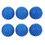 SODIAL 6 pieces x Boule de ramollissant Boule adoucissante Boule de lavage en resine...