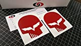 UNDERGROUND DESIGNS Corvette Jake Skull Decal Racing Flag Sticker LS1 LS6 LS2 LS3 LS7 LSX Select Color (Gloss Red)