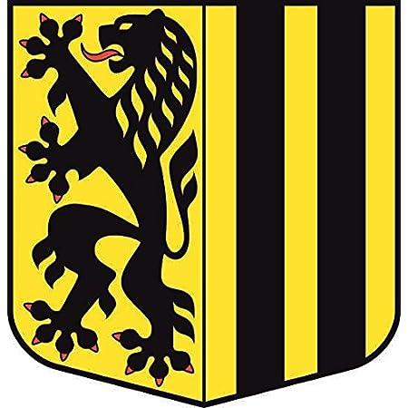 U24 Aufkleber Sachsen Wappen Autoaufkleber Sticker Konturschnitt Auto