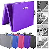 Lions Gymnastic Mat - 50MM Thick Tri Folding Yoga Exercise Gym Play Fitness