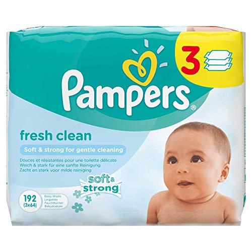 Pampers Fresh Clean Feuchttücher, 3Packungen 192Feuchttücher