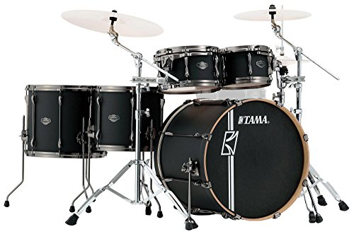 Tama ML52HLZBN-FBK Superstar Hyper-Drive Maple Drumkit (5-teiliges Drumset, Hyper-Drive Design, Ahornkessel, Lackierte Oberfläche) Flat Black