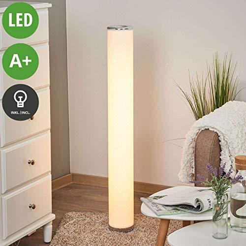 Lindby LED Stehlampe 'Ecris' (Modern) in Weiß u.a. für Wohnzimmer & Esszimmer (1 flammig, A+, inkl. Leuchtmittel) - LED-Stehleuchte, Floor Lamp, Standleuchte, Wohnzimmerlampe