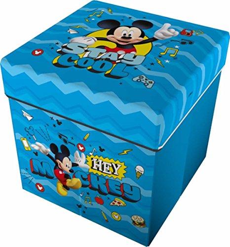 Star Licensing 46732 Disney Michey Pouf Contenitore, Poliestere, Multicolore, 32 x 32 x 32 cm