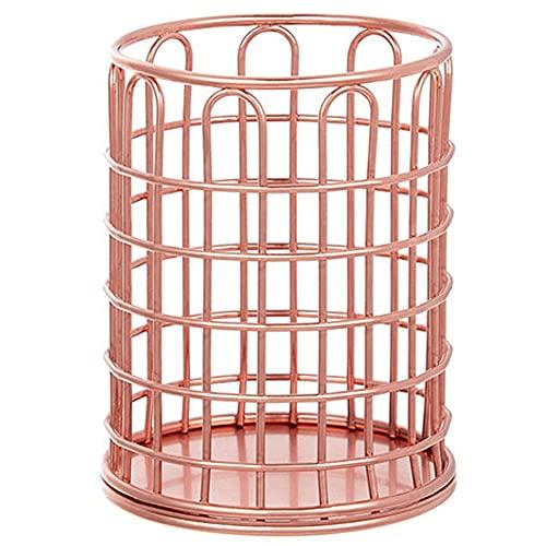 Froiny 1 Pc Titular Pluma Metal Cylindrical Office Almacenamiento Papelería Multifuncional Cosméticos Cepillo Cubo Almacenamiento