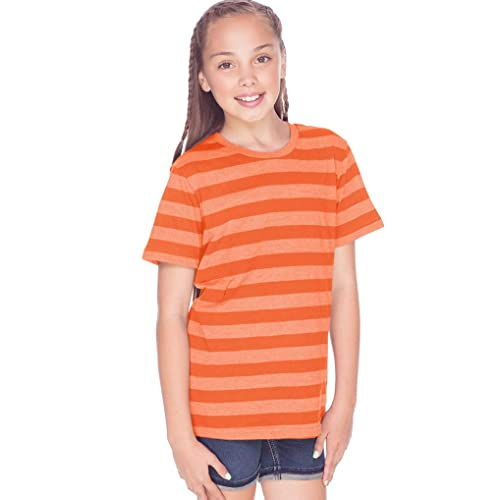 11942349d180bd Youth Striped Jersey Crew Neck Short Sleeve Tee