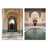 Moderne Moschee Casablanca Marokko Poster Leinwand Malerei