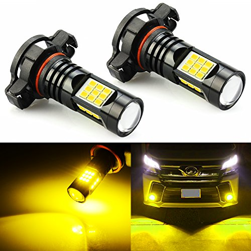 JDM ASTAR Extremely Bright PX Chips 5202 5201 LED Fog Light Bulbs, Golden Yellow