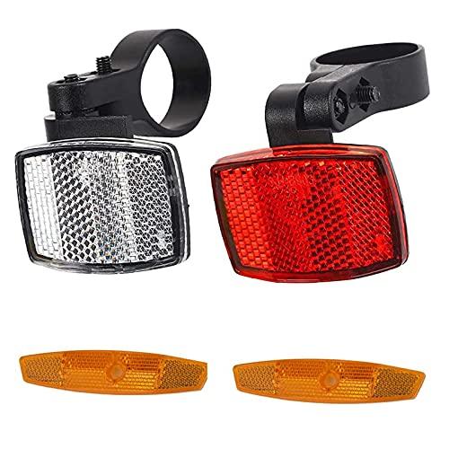 opamoo Speichen Reflektoren, Fahrrad Reflektor Set 1 Fahrrad Reflektor Vorne 1 Fahrrad Reflektor Hinten 2 Speichenstrahler, für Mountainbike Rennrad Erwachsene Kinder Fahrrad-Zubehör
