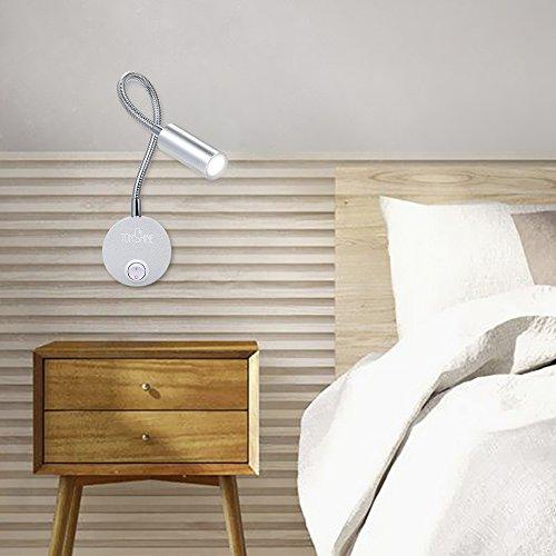 Galapara LED leeslamp zwanenhalslamp dimbaar bedlamp slaapkamer leeslamp bed leeslamp bed leeslamp 3 W leeslamp wandmontage LED bedlamp zwanenhals lamp voor slaapkamer