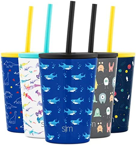 Simple Modern Kids Insulated Water Bottle Cup with Straw Stainless Steel Flask Metal Thermos product image