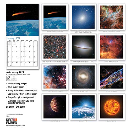 Product Image 6: Astronomy – 2021 Wall Calendars by Red Ember Press – 12″ x 24″ When Open – Thick & Sturdy Paper – Explore Outer Space