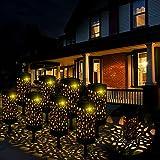 Kefflum Solarleuchte Garten LED Solarlampe Gartenleuchte für draußen 8 Stück Warmweiße LED Solar...