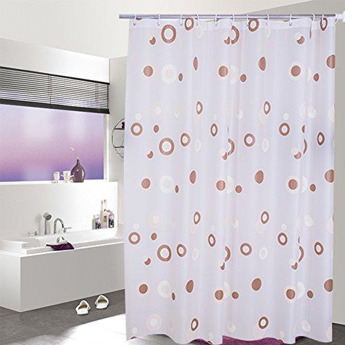 Rideau de douche de salle de bains Peva épaissie rideau de douche étanche Cloison suspendue de salle de bains-A 200cm*200cm