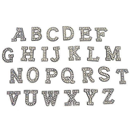 SANON Aplique de Letras Coser en Apliques de Alfabeto 26 Piezas de...